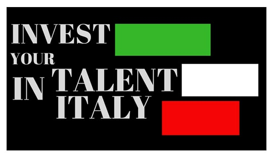 "İTALYA'DA EĞİTİM BURSU - ""INVEST YOUR TALENT IN ITALY"""